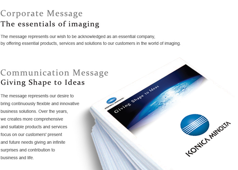 Corporate Message|Copier|Printer|Multifunctional Product ...